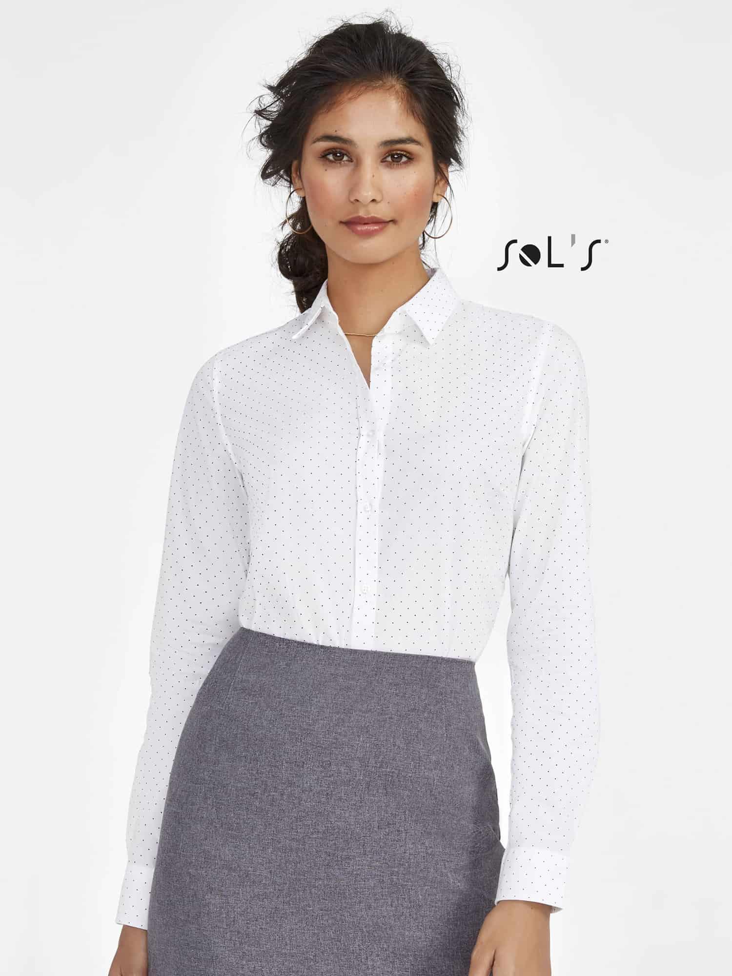 Sol's 01649 Camisa Mujer de Lunares Becker